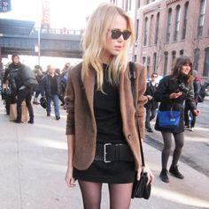 Acne blazer/skirt/shirt/belt, Theyskens Theory purse