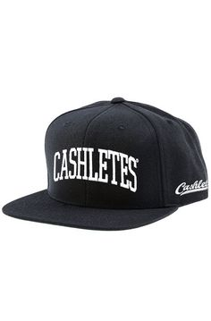 fa1944cb9e7 Cashletes The Arch Snapback in Black Wool Blend