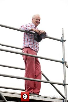 Great photo: Bill Murray at the Pro-am for the 2012 Irish Open, holding his Stormy Kromer