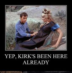 kirk's been everywhere // leaving a trail of breadcrums...
