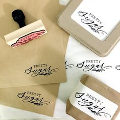 56 Trendy Ideas for gifts packaging ideas stamps Brand Packaging, Gift Packaging, Packaging Ideas, Best Bridesmaid Gifts, Custom Rubber Stamps, Chocolate Brands, Creative Gift Wrapping, Pretty Packaging, Branding