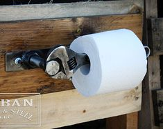 Industrial upcycled Wrench Toilet Paper Holder & by TheBeerWrench