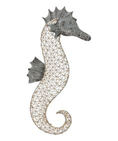 Another great find on #zulily! Metal & Woven Cord Sea Horse Wall Art by Evergreen #zulilyfinds