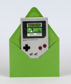 Great Party Ideas - Gameboy Invitation! Nerdy cool custom Wedding Invitations, Announcements and Birthday Invitations by SuperNovum Invitation