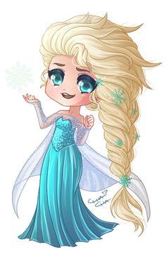Elsa (Drawing by MissElysium @Instagram) #Frozen