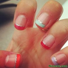 Colored French Manicure nail art designs 2014