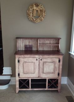 Cabinet, Wine Bar, Free Shipping, Liquor, Wine, Dry Sink, Wet Bar, Punched Tin…