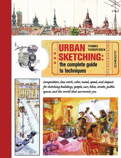 Urban Sketching: The Complete Guide to Techniques by Thomas Thorspecken http://www.amazon.com/dp/1438003412/ref=cm_sw_r_pi_dp_FGZnub1W9VZ07