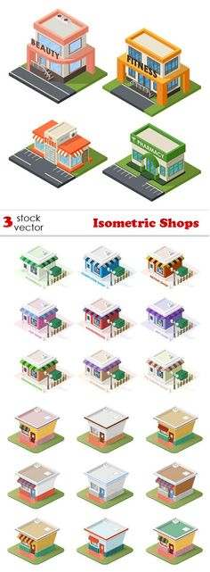 Vectors - Isometric Shops