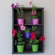 Handmade flower pots wall stand