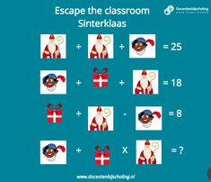 Escape The Classroom, Escape Room For Kids, Christmas Home, Diy For Kids, Teaching, Math, Math Resources, Education, Onderwijs