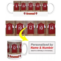 c6ff5a5ea46 Arsenal Personalised Player s MugAppear alongside Arsenal Stars like  Arshavin and Wilshere. We merge your Surname