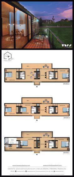 Prototipo 67_  Opciones A-B-C 311.664.16.93 Medellín - Antioquia Desktop Screenshot, Floor Plans, Mansions, House Styles, Home Decor, Medellin Colombia, Prefab Homes, Mansion Houses, Homemade Home Decor