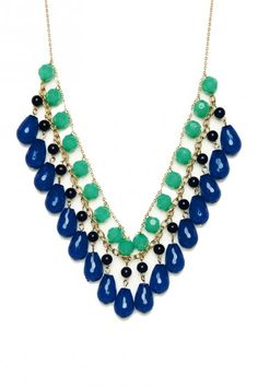 limestone master kingston necklace flat bijouxbead products green blue