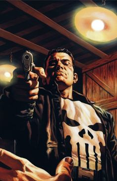 Punisher- Frank Castle lost his family to organized crime. Now he's paying the criminals back one bullet at a time. The ultimate anti-hero.