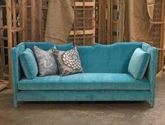 lola sofa turquoise velvet