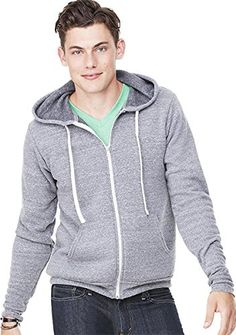 8.2 oz., 50% polyester, 37.5% combed and ringspun cotton, 12.5% rayon; 30 singles; retail fit; #unisex sizing; pre-laundered triblend sponge #fleece; kangaroo poc...