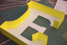 DIY Carnival/Circus Marquee Letter for baby room