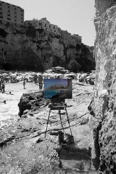 Tra il mare e la roccia di Tropea, Poster e stampa fotografica