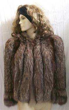 Vintage Silver Tipped Fox Fur jacket