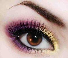 23 Ideas eye black iris for 2019 Makeup Art, Makeup Tips, Hair Makeup, Makeup Ideas, Dance Makeup, Makeup Tutorials, Yellow Eyeshadow, Colorful Eyeshadow, Purple Eye Makeup