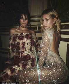 Glitz! Kendall and Hailey showed off their glam outfits online