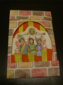 Shadrach, Meshach, and Abednego survive the fiery furnace  http://biblecraftsandactivities.com/wp-content/uploads/2012/08/Fiery-Furnace.pdf