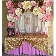 """""""Little hands, little feet  Pure and precious, and Oh So Sweet! @jackiespartycreations beautiful setup for a baby girl on the way …"""""""