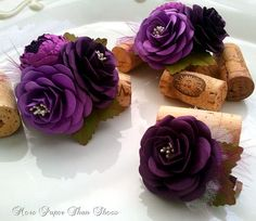 Handmade Paper Flowers Corsage Royal by morepaperthanshoes