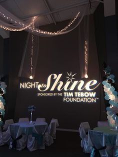 We enjoy and support the Tim Tebow Foundation A Night to Shine! Tim Tebow Foundation, Night To Shine, Prom Decor, Community Events, Color Street, Bat Mitzvah, Life Inspiration, Party Time, Balloons