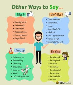 Other Ways to Say… – ESLBuzz Learning English Other Ways to Say… – ESLBuzz Learning English,Nyelvtan Other Ways to Say… Related posts:Set of Gingerbread man opposites for kids - crosswordA 5 Minute Activity for. English Learning Spoken, Teaching English Grammar, English Writing Skills, Grammar And Vocabulary, English Vocabulary Words, English Language Learning, Teaching Spanish, Spanish Language, French Language