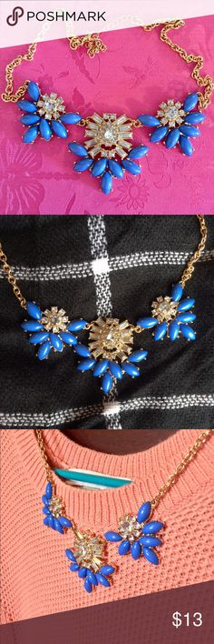 Charming Charlie Statement Necklace Super cute statement necklace from Charming Charlie's! Worn once. This blue goes with anything  Charming Charlie Jewelry Necklaces