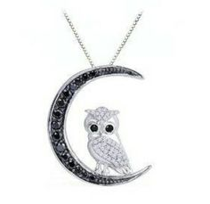 moon and owl necklace