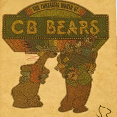 Hanna Barbera's CB Bears Vintage Iron On Heat Transfer by VintageIronOn on Etsy