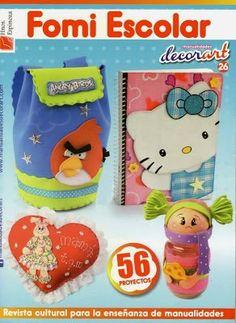 Revistas de Foamy gratis: como hacer portadas para cuadernos foamy