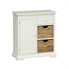 Farmhouse Painted Extra Small Sideboard - Ivory - The Cotswold Company Hallway Furniture, Dining Room Furniture, Modern Country, Country Chic, Ivory Paint, Small Sideboard, Paint Finishes, Wicker Baskets, Cupboard