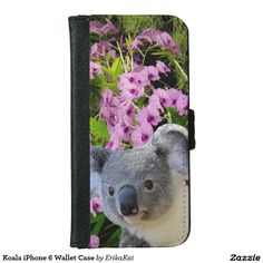 Koala Wallet Case for iPhone 5/5s, 6/6s or 6/6s Plus