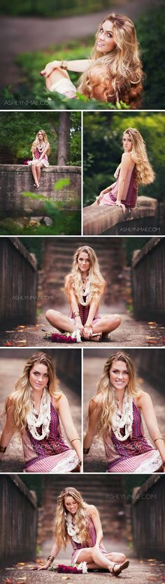 Amazing outfit, love the color of the dress with the accessories | High School Senior Shoot