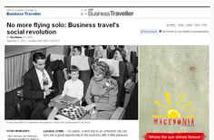 Business travelling is having a bit of a social revolution. A new generation of online services are trying to turn solo flying into a social experience by introducing professionals to like-minded travelers. No more sitting next to people you wish would just fall asleep...