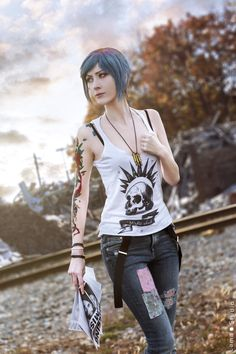 Cosplay Anime Costume Chloe Price - Life is Strange by Shiro-Cosplay - Amazing Cosplay, Best Cosplay, Cosplay Makeup, Cosplay Costumes, Cosplay Ideas, Chloe Price Tattoo, Shiro Cosplay, Life Is Strange Fanart, Max And Chloe