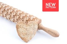 American Saddlebreds Engraved Rolling Pin - Embossed For Making Cookies by STODOLA on Gourmly