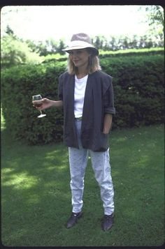 """Then: Michelle Pfeiffer - Although her fashion in 1983's """"Scarface"""" featured high slits and plunging necklines, Michelle Pfeiffer off screen pulled off casual flawlessly."""