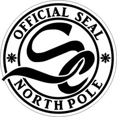 Christmas Official Seal Northpole Monogram D2