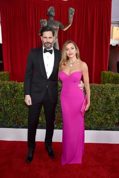 Sofia Vergara and Joe Manganiello looked so in love and happy as they walked the red carpet at the SAG Awards, cozying up, walking hand in hand, and shamelessly checking each other out in front of the cameras as they made their way into the ceremony.