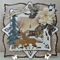 Vandaag is het mijn beurt om iets te plaatsen op het blog van HobbyVision. Omdat velen al met de kerst / winterkaarten bezig zijn, heb i...