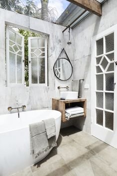 Treat yourself and give yourself that five star hotel experience in the comfort of your own home! Zen Bathroom, Modern Master Bathroom, Bathroom Wallpaper, Laundry In Bathroom, Small Bathroom, Bathroom Ideas, Bathroom Inspo, Contemporary Bathrooms, Houzz Bathroom