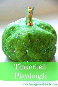 Tinkerbell Playdough- Peter Pan Birthday Party i love this idea