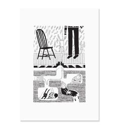 affiche Six feet under3 chaise Main sauvage - Deco Graphic