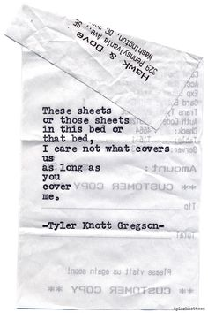 Typewriter Series Knott Gregson for always. Pretty Words, Beautiful Words, Poem Quotes, Poems, Life Quotes, Tyler Knott Gregson Quotes, Typewriter Series, Sweet Words, All You Need Is Love