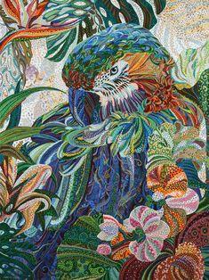 "Saatchi Art Artist: Erika Pochybova-Johnson; Acrylic 2013 Painting ""Talks Less, Says more?"""